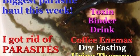 MOST PARASITES REMOVED w/ TBD, Dry Fast, Coffee Enema, Urine Therapy