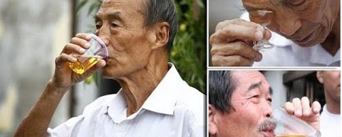 Chinese Urine Therapy   Man Drinks His Own Wee Everyday Claiming It Cures Tumours,Broken Bones Even